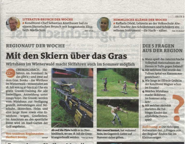 Grasski - Bezirksblätter